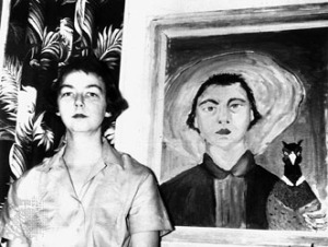 flannery-oconnor-self-portrait1